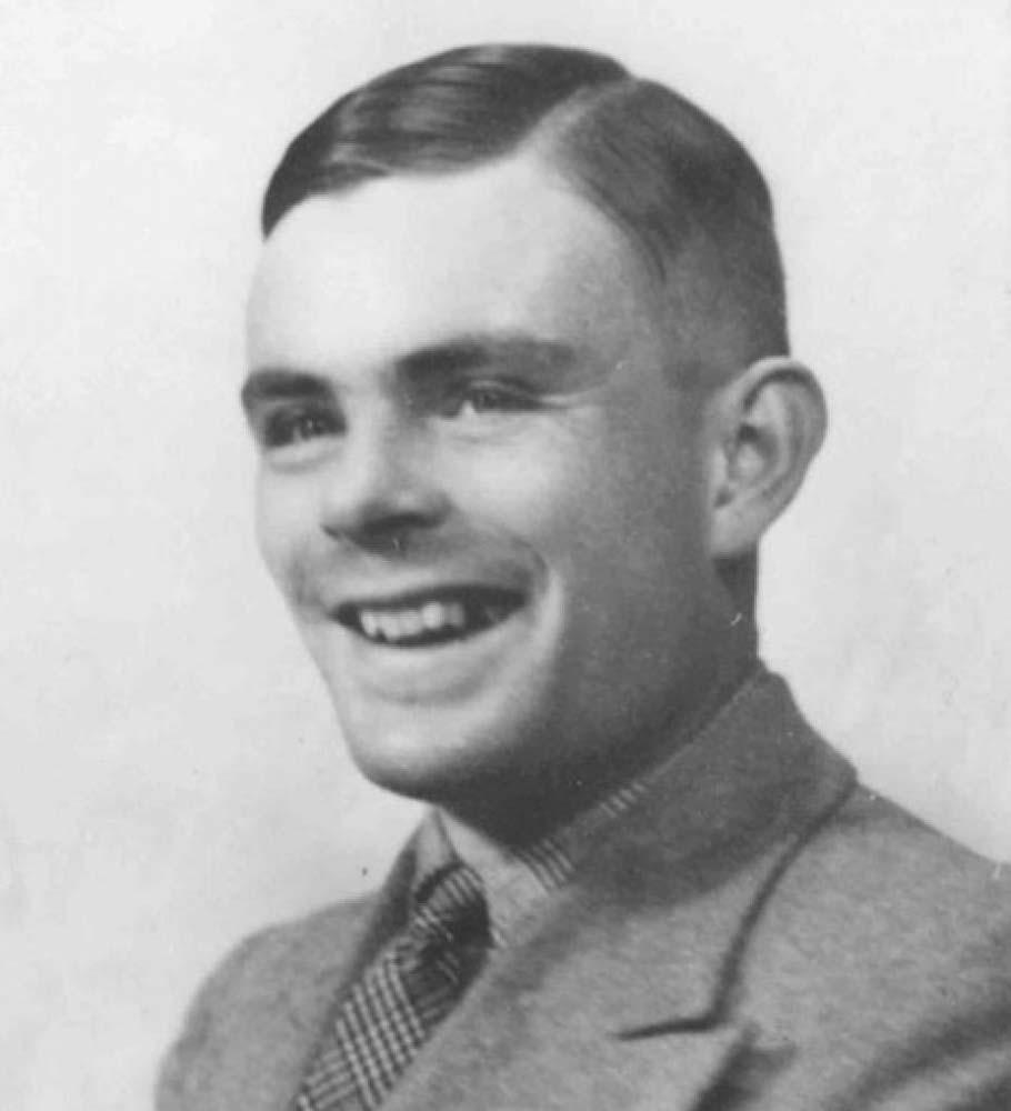 AlanTuring – genialny matematyk, który w czasie wojny zajmował się łamaniem Enigmy w Bletchley Park. To jemu Rejewski zaprezentował polskie metody.