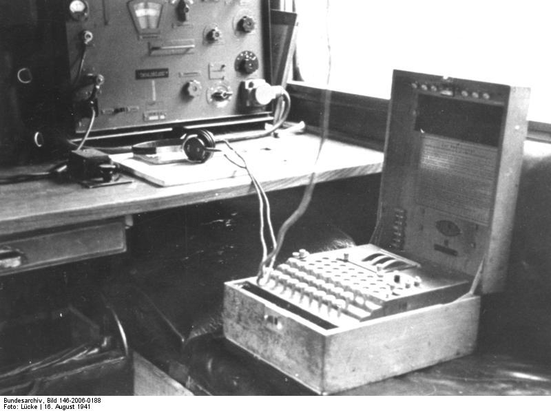 The first step to breaking the Enigma was the regular listening watch: eavesdropping and recording hostile radio broadcasts.