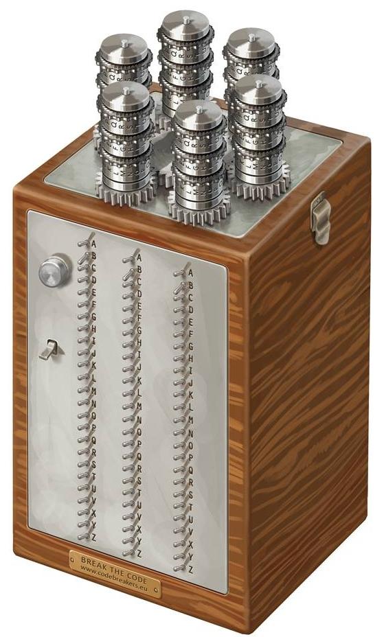 Bomba kryptologiczna była zestawem 6 zespołów wirników Enigmy posiadających m.in. wspólny napęd.
