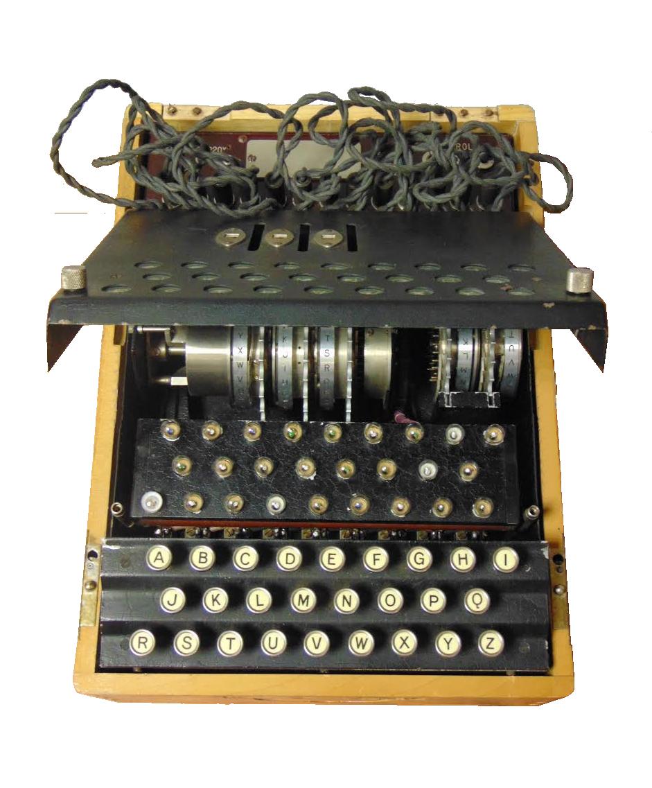 Enigma złożona we Francji na podstawie polskich planów. Korzystano z niej w ośrodku Bruno.