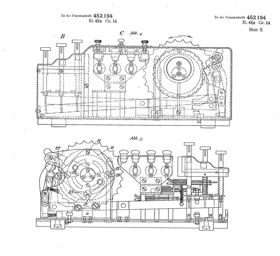 Jeden z patentów opisujących Enigmę