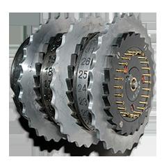 Grafika prezentująca wirnik maszyny szyfrującej Enigma