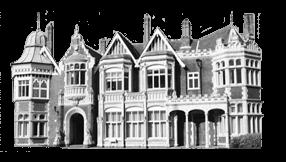Zdjęcie pałacyku w Bletchley Park