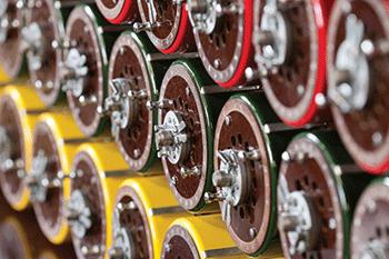 Zdjęcie prezentujące fragment urządzenia zwanego Bombą Turinga
