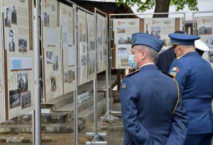 Prezentacja tablic wystawy w Muzeum Wojskowym w Kiszyniowie (Republika Mołdawii)